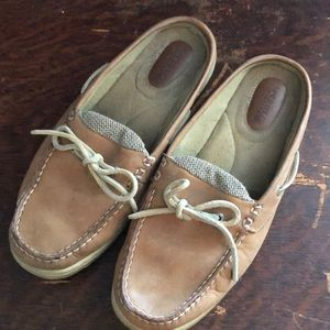Light Brown Sperry Top-Sider Mules